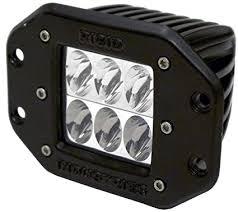Rigid Industries 51132 D2 Amber Driving LightFlush Mount: Amazon ...