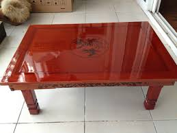 korean style dining table folding legs rectangle 6 asian style furniture