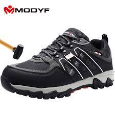 <b>MODYF Men's Steel Toe</b> Work Safety Shoes Lightweight Breathable ...