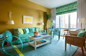 beach style living room with yellow and turquoise sofa beach style living room furniture