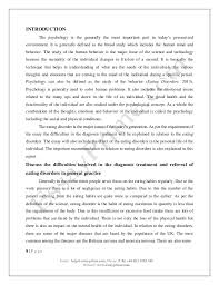 psychology in eating disorder essay sample psychology essay examples