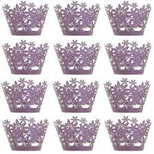 24Pcs Cupcake Wrappers Christmas Party Hollow ... - Amazon.com