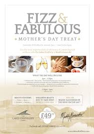 fizz fabulous pamper afternoon the lakes distillery flyer