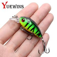 Yuewins <b>Mini Crankbait Fishing Lure</b> 45mm 4.1g Topwater Artificial ...