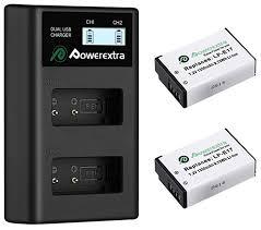 Купить 2 <b>аккумулятора</b> + зарядное устройство <b>Powerextra LP</b>-<b>E17</b> ...