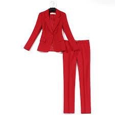 Professional suit pants suit <b>women</b> thin red suit jacket slim trousers ...