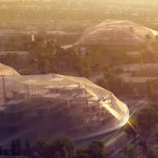 robotic cranes to build big and heatherwicks google hq big heatherwick futuristic google hq