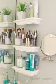 decoration bathroom sinks ideas: add small shelves next to the bathroom sink for those small bathrooms with no closet space go with a bright white if your walls have color