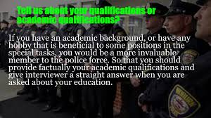 police explorer interview questions