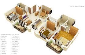 "Three "" "" Bedroom Apartment House Plans   Architecture  amp  Design    bedroom floor plans under   square"