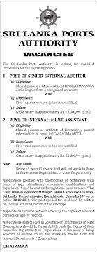 job description vacancies senior internal auditor internal auditors job description