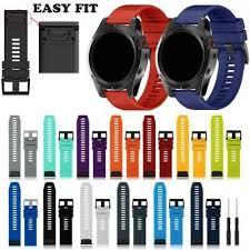 <b>22</b>/<b>26mm Silicone Watch</b> Band Strap for Garmin Fenix 5/5S/5X/3 ...