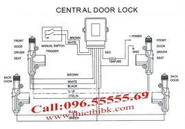 Chuot Cua O To Dieu Khien Car Door Lock System So Do1