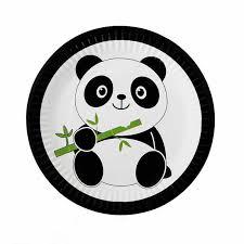 <b>10pcs</b>/lot <b>Disposable</b> Plates Cartoon Panda Theme Birthday Party ...