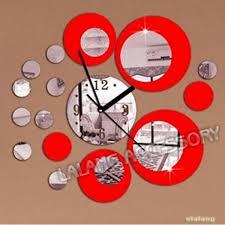 small bathroom clock: new circle d crystal clock modern design luxury fashion mirror wall clock circular composite diy wall clock  small bathroom clock small bathroom