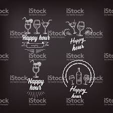 happy hour party invitation cocktail chalkboard banner stock 1 credit