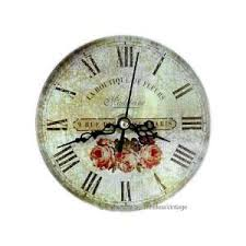 small bathroom clock: small french flower shop kitchen bathroom wall clock home amp kitchen
