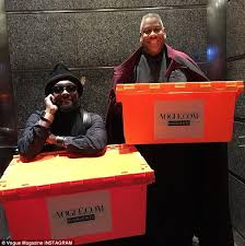 thats one famous mover the instagram feed for the conde nast owned publication showed rapper william carrying boxes for them anna wintour office google
