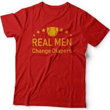 """<b>Футболка</b> в подарок для папы с надписью """"<b>Real man change</b> ..."""