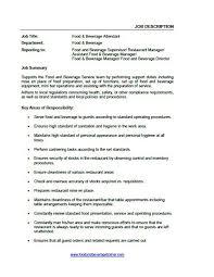 restaurant supervisor job description   zimku resume   the appetizer job descriptions food and beverage trainer