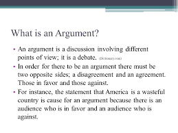 the argumentative essay english language arts ppt download what is an argument an argument is a discussion involving different points of view
