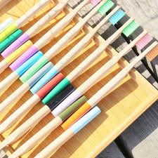 10PCS Multi Colors <b>Bamboo Toothbrush Set Eco Friendly</b> ...