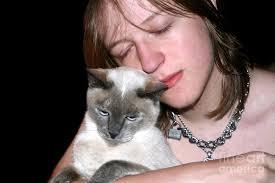 0. Affectionate Teen And Cat 2 Photograph - affectionate-teen-and-cat-2-susan-stevenson