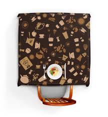 """Скатерть квадратная """"Кофе."""" #2623681 от nadegda - <b>Printio</b>"""