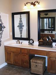 design country bathroom mirrors