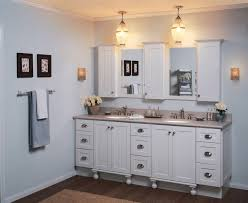 two pendant modern bathroom lighting above double sink bathroom vanity and two mirror and shelves bathroom vanity pendant