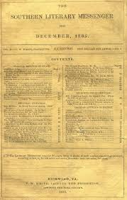 genres of southern literature southern spaces edited and published table of contents to the southern literary messenger 1835 courtesy of