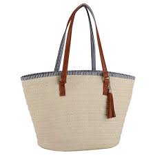 COOFIT Straw <b>Bags Beach Bags</b> Pompom Shoulder <b>Bags Summer</b> ...