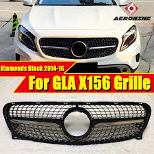<b>X156</b> Diamonds <b>grille grill</b> ABS Gloss Black without Sign For ...