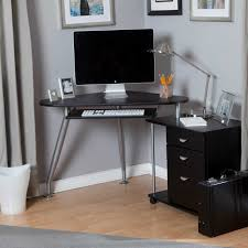 full size of desk captivating corner desk modern wood and steel material black color silver amazing office desk hutch