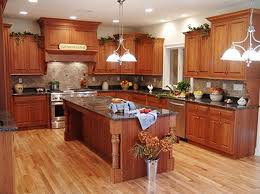kitchen retro style country french kitchen remodeling ideas on cheap budget featuring cherry wood l shaped kitchen cabinet with freestanding rectangular amish country kitchen light