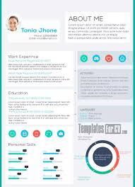 Download 35 Free Creative Resume / CV Templates - XDesigns Executive CV Tania Jhone Modern Resume