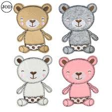 cute smile baby <b>bear</b> embroidery iron on <b>patches for clothing</b> bag ...