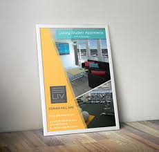 real estate agent be brightly branded poster design