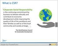 Illustrate Corporate Social Responsibility Presentation with Editable PPT Graphics Pinterest