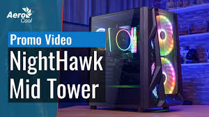 <b>AeroCool NightHawk</b> Mid Tower Gaming Case Promo Video ...
