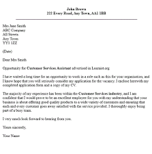 Customer Services Assistant Cover Letter Examples   forums