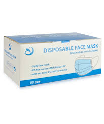 Pack of <b>50 Disposable Face</b> Masks - Postie