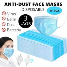 <b>Маска для лица 3</b> слоя против пыли против гриппа одноразовая ...