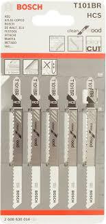 <b>Пилка для лобзика</b> 5 шт. HCS T101 BR <b>Bosch</b> 2.608.630.014 ...
