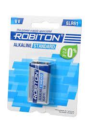 <b>Батарейка</b> 6LR61 щелочная <b>крона ROBITON STANDARD</b> BL185 ...