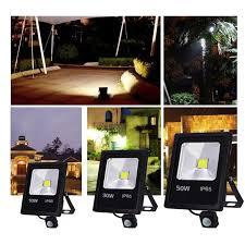 Motion Sensor <b>LED</b> floodlight 10 W 30 W 50 W 220 V floodlight ...