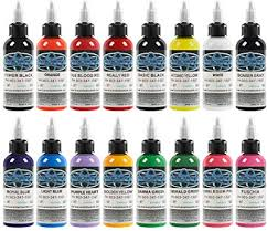 <b>16pcs</b> Tattoo Ink Baodeli Tattoo Inks 16Colors Set 1 oz <b>30ml</b>/Bottle ...