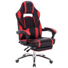 <b>Gaming</b> chair Racing chair with <b>leather</b> cushion, with footrest ...