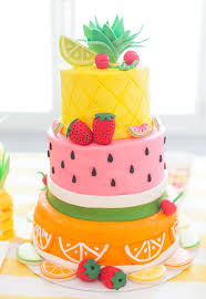 Decorated Birthday Cakes Two Tti Fruity Birthday Party Blakely Turns 2 Pizzazzerie