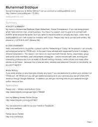 resume template social media resume summary social media marketing resume sample